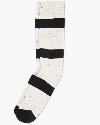 7 For All Mankind London Crew Sock in Cream and Black