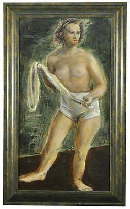 One Kings Lane Vintage Studio Nude with Towel