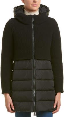 Herno Contrast Wool-Blend Down Coat