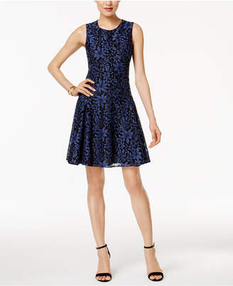 Tommy Hilfiger Lace Fit & Flare Dress $139 thestylecure.com