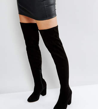 Asos DESIGN KATCHER Wide Fit Heeled Over The Knee Boots