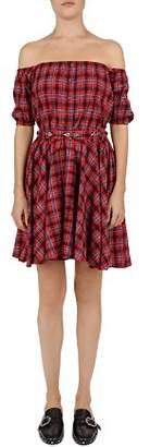 The Kooples Off-the-Shoulder Plaid Dress
