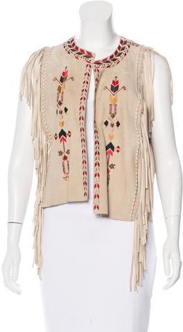 Isabel MarantIsabel Marant Embroidered Suede Vest