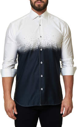 Desigual Maceoo Shaped-Fit Black Degrade Sport Shirt