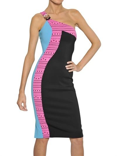 Versace Laser Cut Viscose Cady Dress