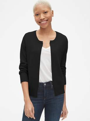 Gap Open-Front Cardigan Sweater in Cashmere