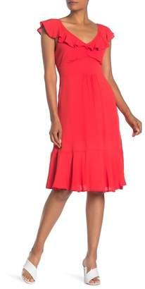 Dress Forum Flutter Cap Sleeve V-Neck Dress