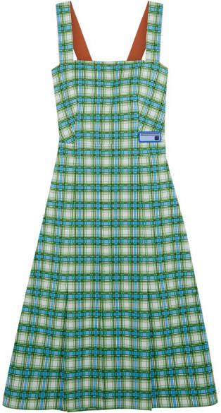 pradaPrada - Plaid Stretch-knit Dress - Green