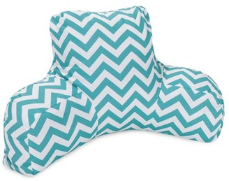 Majestic Home Goods Indoor Outdoor Teal Chevron Reading Pillow with Arms Backrest Back Support for Sitting 33 in L x 6 in W x 18 in H