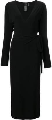 Norma Kamali v-neck midi wrap dress