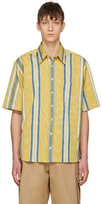 Ribeyron Yellow and Blue Striped Tourist Shirt