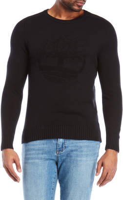 Timberland Flocked Logo Slim Fit Sweater