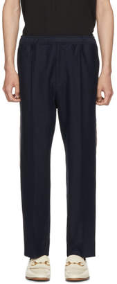 Gucci Navy Logo Tape Lounge Pants