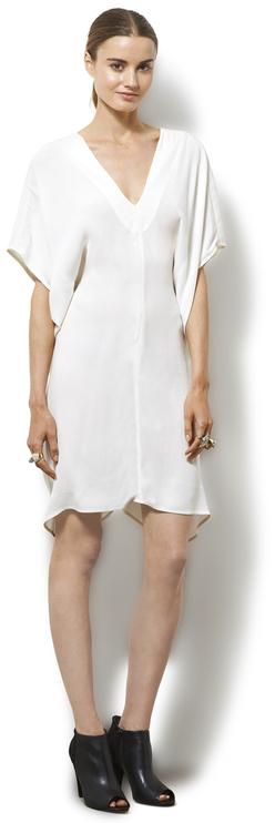 Corey Lynn Calter - Jane Drape Side Transforming Dress in White