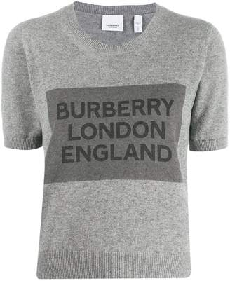 Burberry cashmere logo detail top
