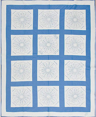 One Kings Lane Vintage Blue & White Quilt