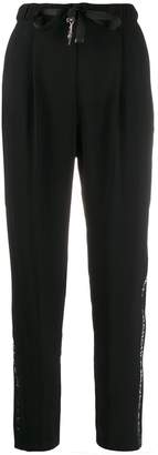 Elisabetta Franchi ribbon tie tapered trousers