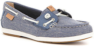 Sperry Coil Ivy Canvas Lace Up Slip On Adjustable In-Step Boat Shoe $80 thestylecure.com