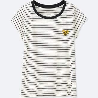 Uniqlo Women's Sprz Ny Short-sleeve Graphic T-Shirt (keith Haring)
