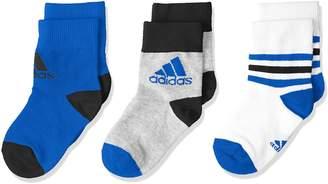 adidas Kids Boys Ankle Socks 3 Pairs CV7156 New