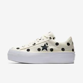Converse One Star Polka Dot Platform Low Top Women's Shoe