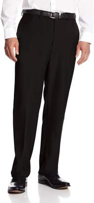 Haggar Men's Big-Tall Expandable Waistband Repreve Stria Plain Front Dress Pant