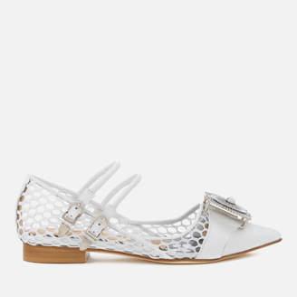 TOGA PULLA Women's Leather Jewelled Toe Pointed Flats - - UK 4/EU 37 Tdyz2