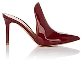 Gianvito Rossi Women's Aramis Patent Leather Mules - Wine