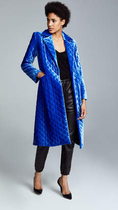Robert Rodriguez Quilted Wash Velvet Coat