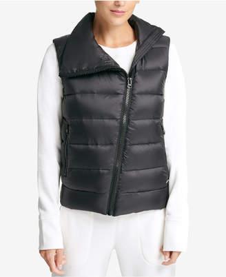 DKNY Sport Asymmetrical-Zip Down-Filled Vest