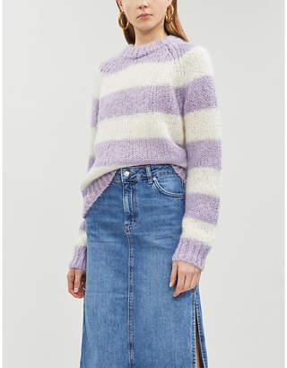 Samsoe & Samsoe Simone striped mohair and wool-blend jumper