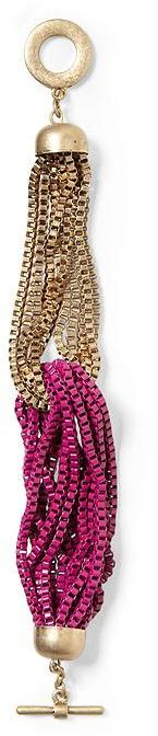 Juicy Couture Tinley Road Hot Pink Torsade Chain Bracelet