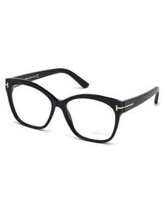 Tom Ford Round Square Optical Frames, Black