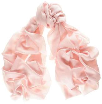 Black Pastel Pink Cashmere and Silk Wrap