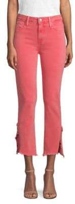 Paige Hoxton Vented Straight Ankle Jeans