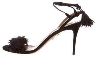 Aquazzura Wild Thing Suede Sandals