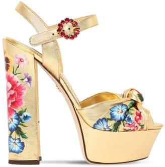 1d89c8b11d4 Dolce   Gabbana Metallic Leather Women s Sandals - ShopStyle