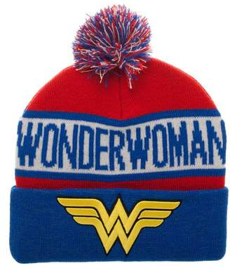Bioworld Wonder Woman Reflective Cuff Beanie