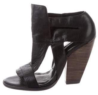 Camilla Skovgaard Leather Cut-Out Booties Black Leather Cut-Out Booties