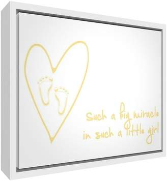 Camilla And Marc Feel Good Art Eco-Printed and Framed Nursery Canvas with Solid White Wooden Frame (64 x 44 x 3 cm Large