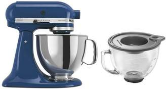 KITCH Tilt-Back Stand Mixer, Stainless Steel Bowl and Glass Bowl