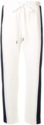Twin-Set side stripe slim fit trousers