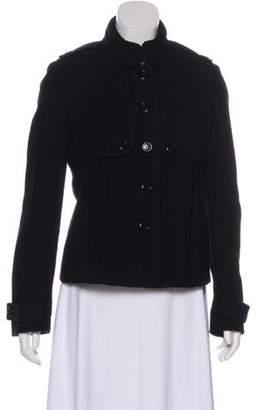 Burberry Long Sleeve Wool Jacket Black Long Sleeve Wool Jacket