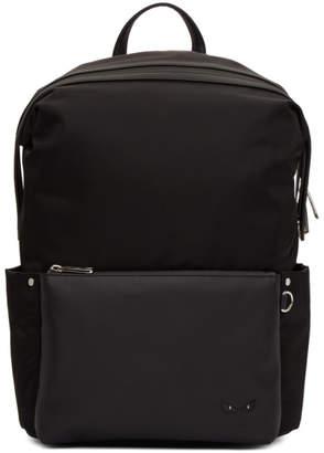 Fendi Black Nylon Bag Bugs Backpack