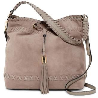 Milly Astor Suede Whipstitch Shoulder Bag