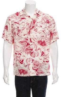 Gucci 2017 Sea Storm Print Shirt