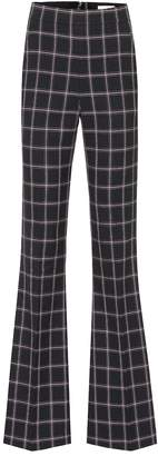 Rebecca Vallance Peta high-rise flared checked pants