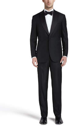 Brioni One-Button Peaked-Lapel Tuxedo