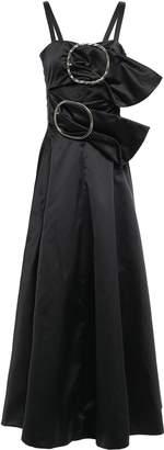Nina Ricci (ニナ リッチ) - Nina Ricci バックル付き カットアウト ダッチェス サテン マキシドレス