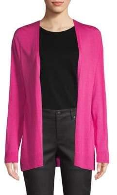 Eileen Fisher Wool, Silk & Cashmere Open-Front Cardigan